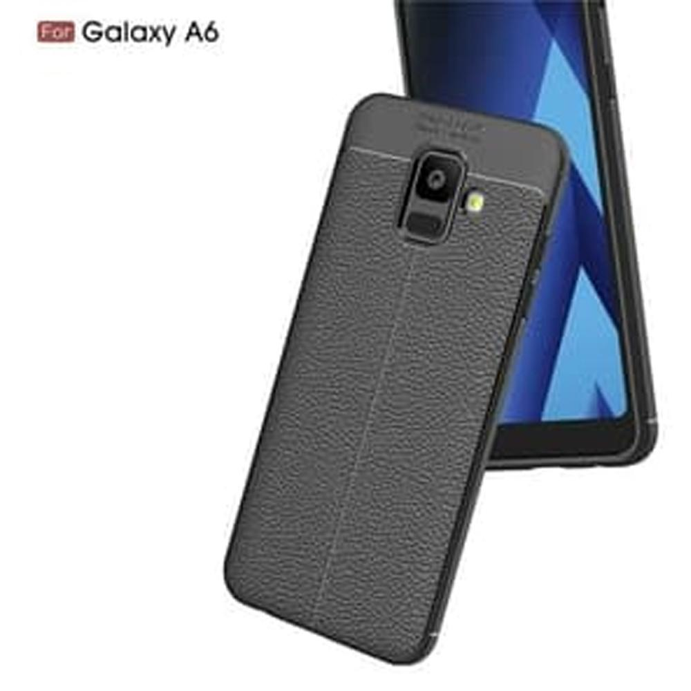 Fitur Case Auto Focus Samsung Galaxy A6 2018 Leather Experience Slim