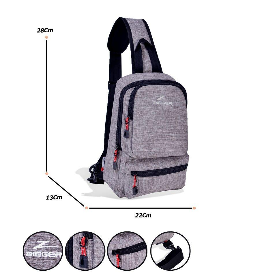 Tas Selempang Pria Sling bag waistbag Zigger Sport 90003- ZV Tali Satu - Grey