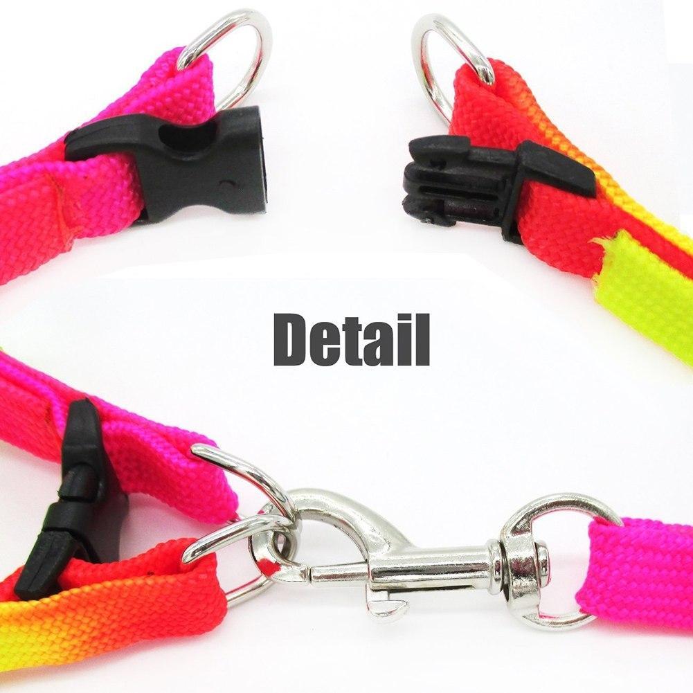 ... Tali Tuntun Harness Pelangi untuk Hewan Anjing Kucing peliharaan - 5