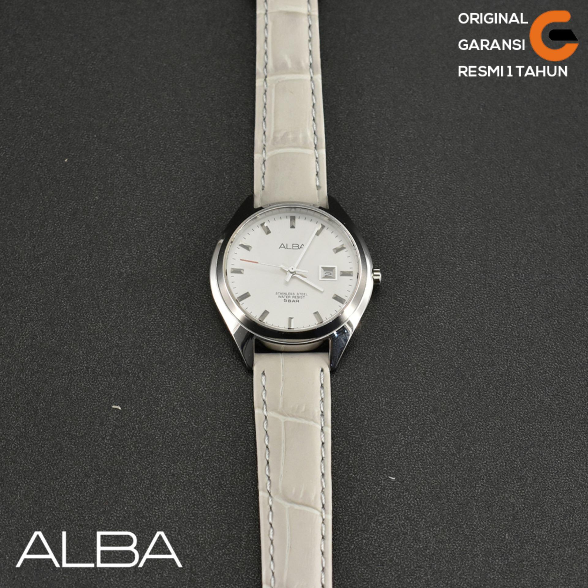 Alba Jam Tangan Wanita ALBA AH7Q17X1 Tali Tulit Leather Case Stainless Steel Jam tangan Alba Wanita
