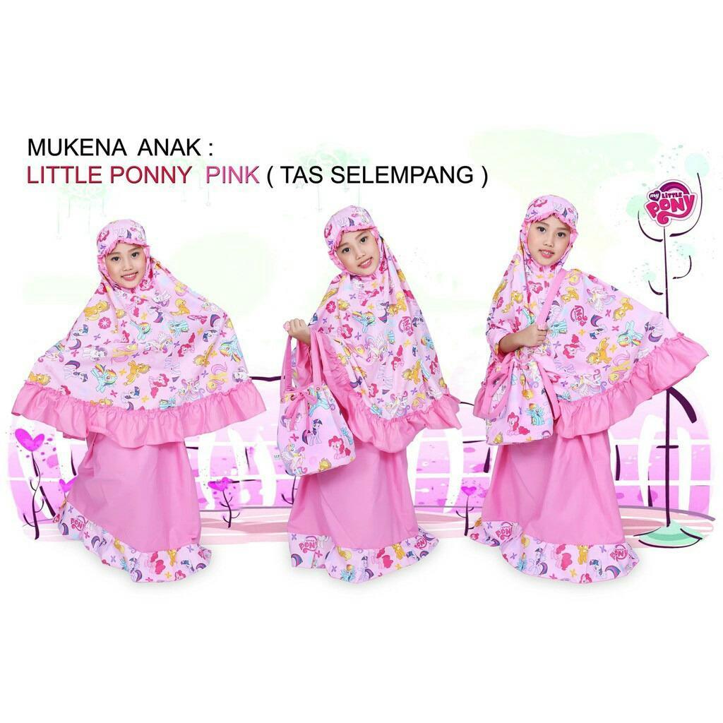 Jual Madeena Mukena Anak Karakter Little Pony Tas Slempang Pink Madeena Branded