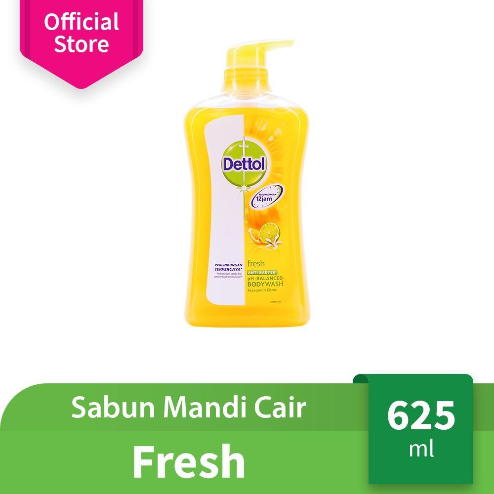 Spesifikasi Dettol Sabun Mandi Cair Fresh Botol Pump 625Ml Anti Kuman Wangi Citrus Terbaru