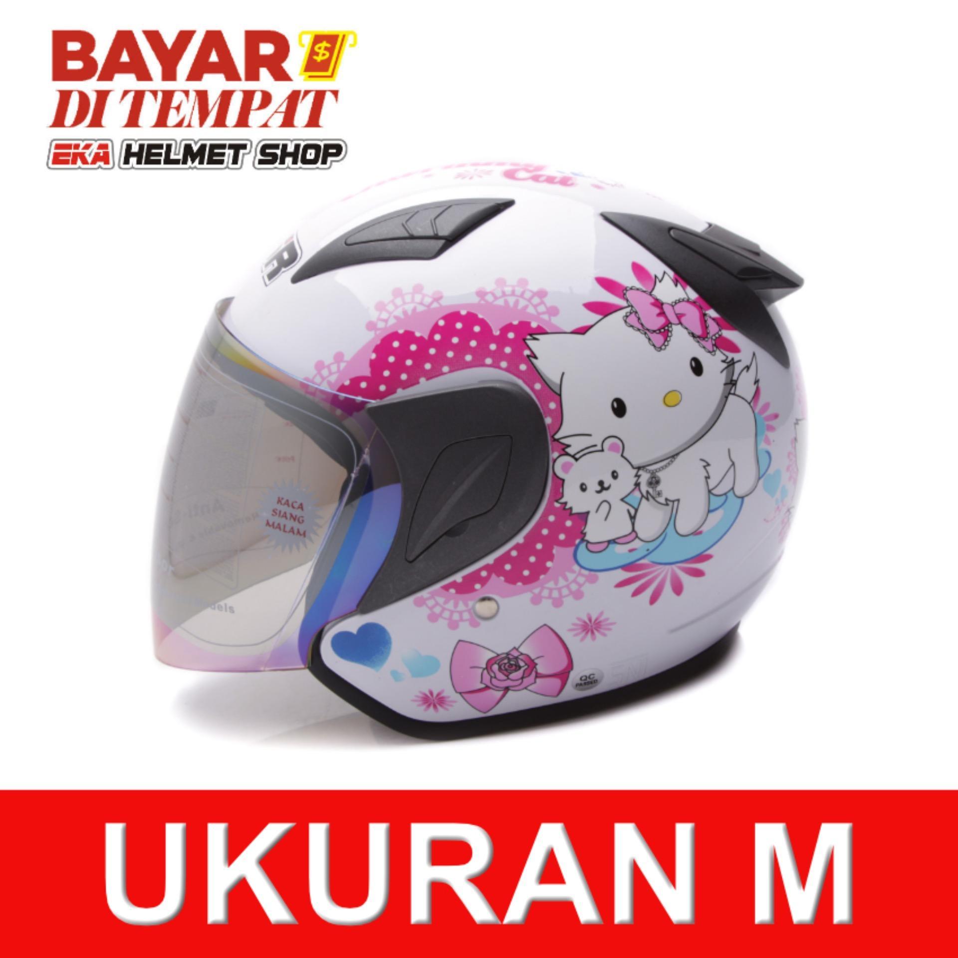 Toko Msr Helmet Javelin Charmmy Putih Terlengkap Banten