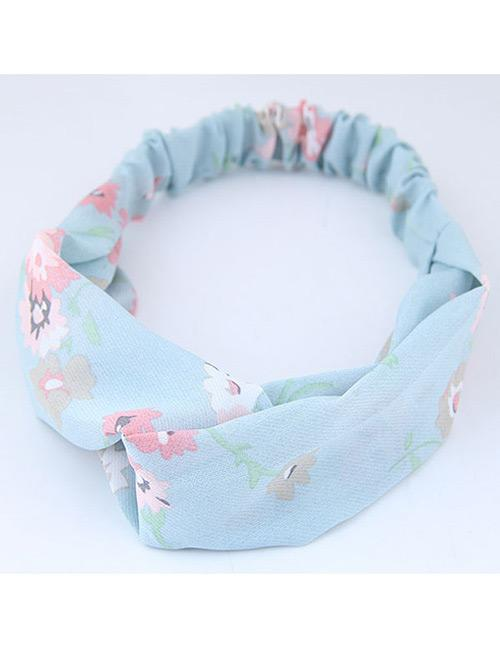 Lrc bando Sweet Flowers Pattern Decorated Wide Hair Band