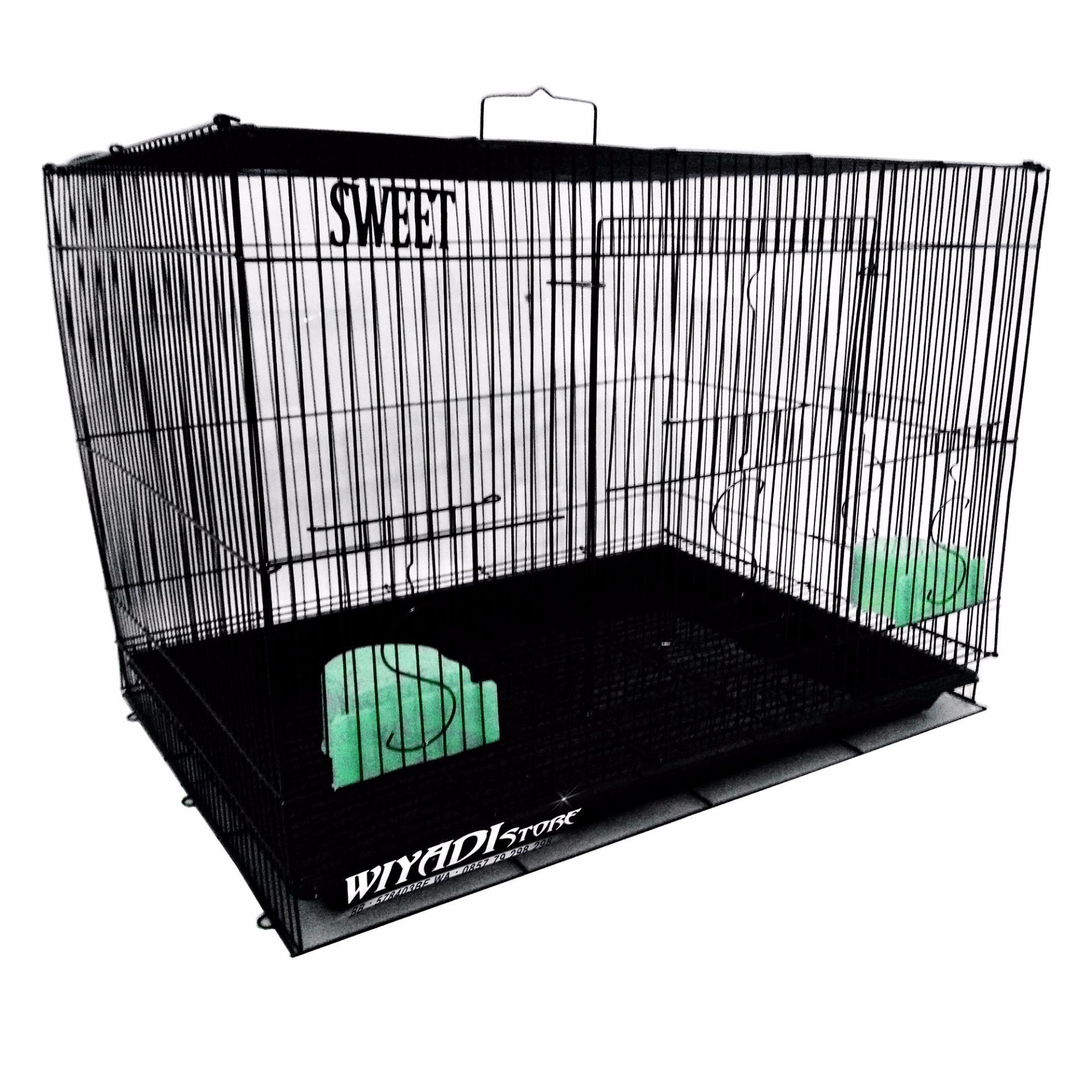 Cuci Gudang Wiyadistore K12 Kandang Kucing Besi Lipat Besar 60P Black