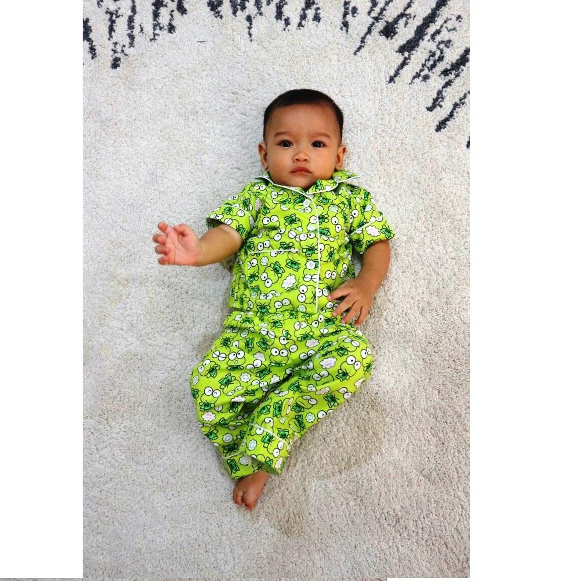 Piyama Anak Motif kerropi Baju Tidur Anak - Untuk umur 6 - 12 Bulan