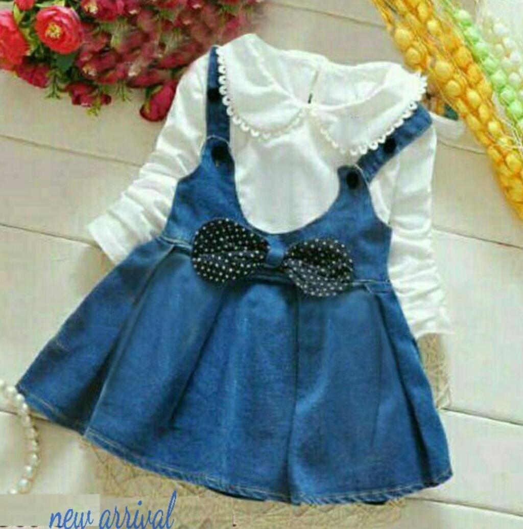 MJ Dress anak 2in1 aubrey kids - renda