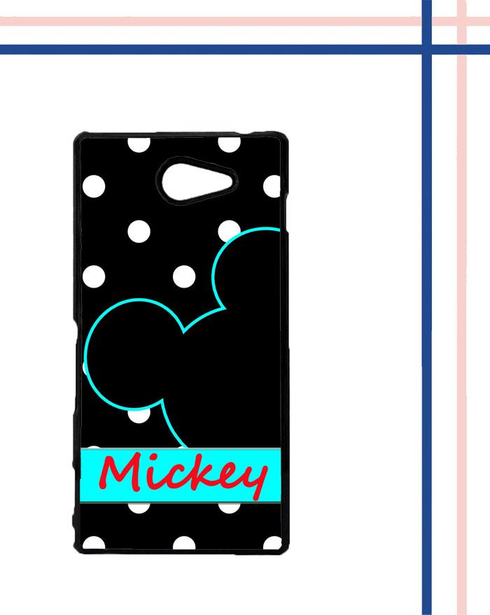 Casing gambar motif HARDCASE untuk hp Sony Xperia M2 mickey polkadot T0083