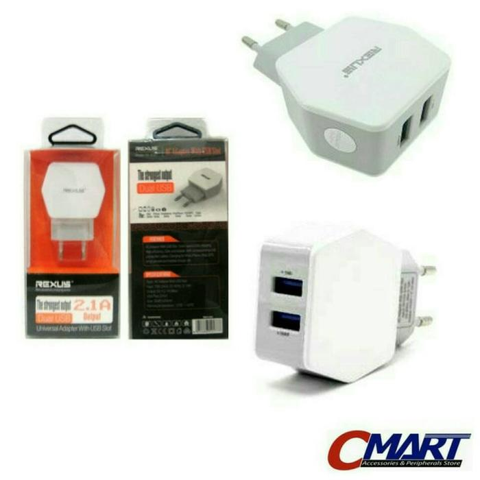 REXUS Dual USB Power Adapter 2.1 Amp Convertible Europlug - RX-AC61