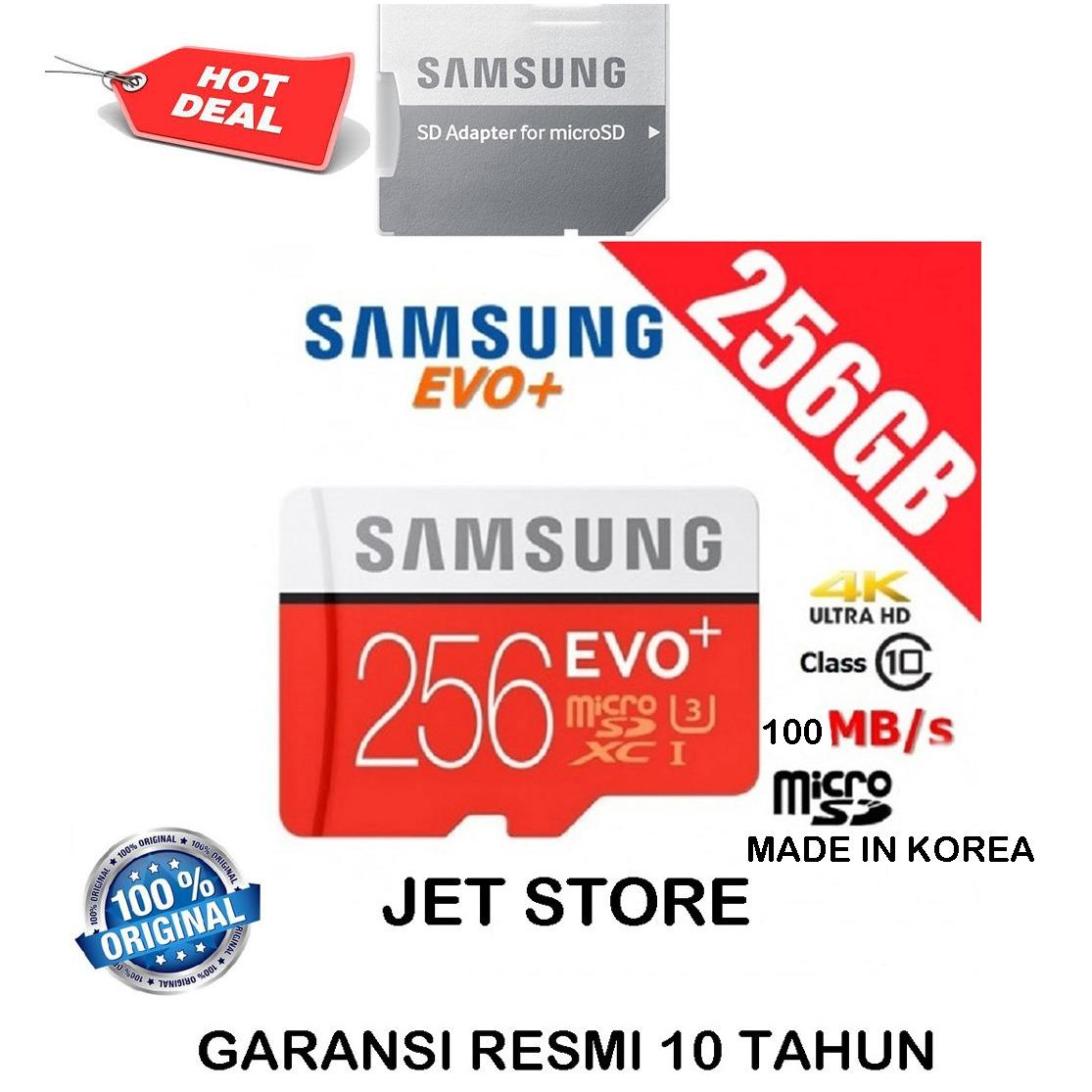 Diskon Samsung Memory Card Microsdxc Evo Plus 256Gb 100Mb S With Adapter Merah Branded
