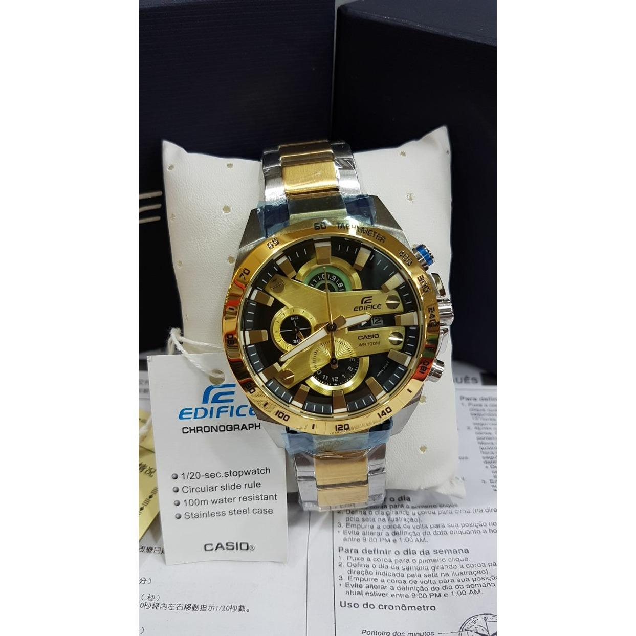 Buy Sell Cheapest Casio Edifice Wisatawan Best Quality Product Efr 539l 1av Hitam 540 Silver Gold