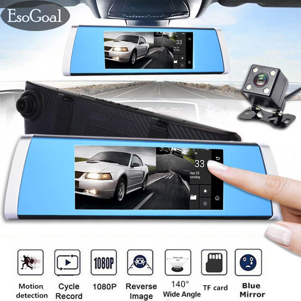 Harga Esogoal 7 Touch Screen 1080P Hd Front And Rear Dual Lens Touch Driving Recorder Night Vision Car Dvr Camera Recorder Asli
