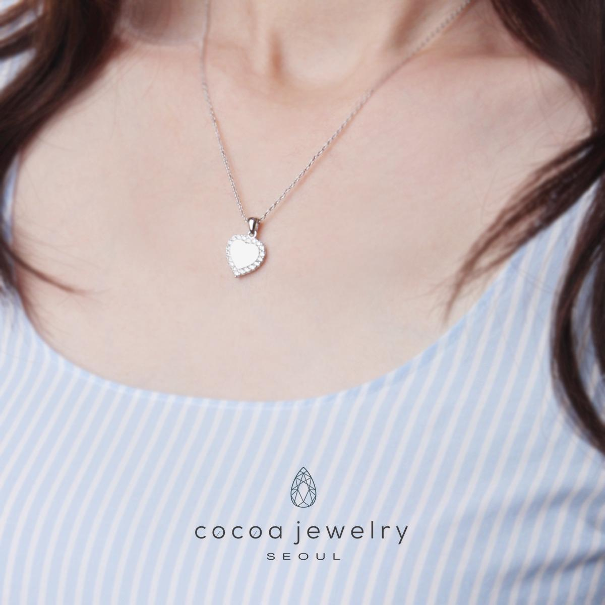 Lihat Cocoa Jewelry Light Up The Love Necklace Silver Color Dan Kalung Moon 4