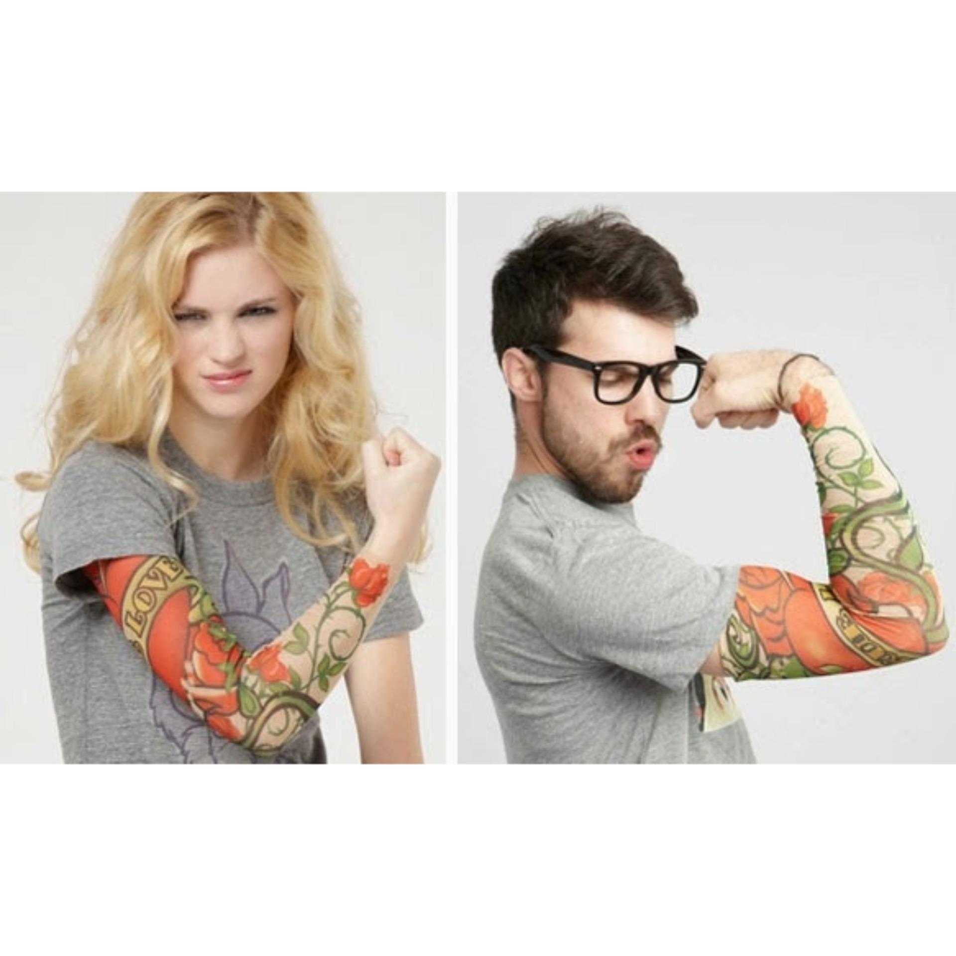 LBGS - Manset Tatto Sleeve Sarung Pelindung Lengan Tangan Motor Arm Anti UV