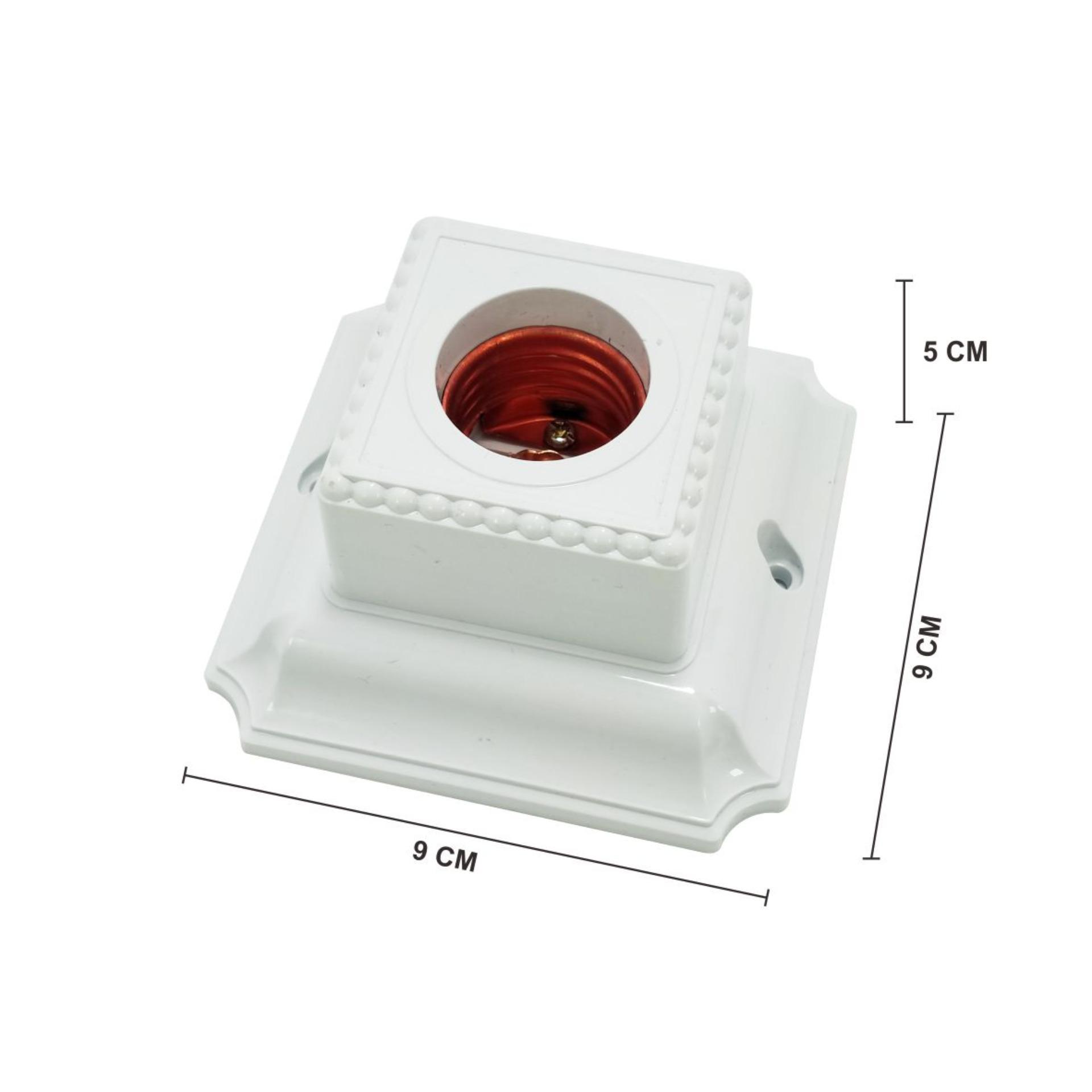 Detail Gambar WEITECH FITTING PLAFON/DINDING 3A 250V TIPE 5504 Terbaru