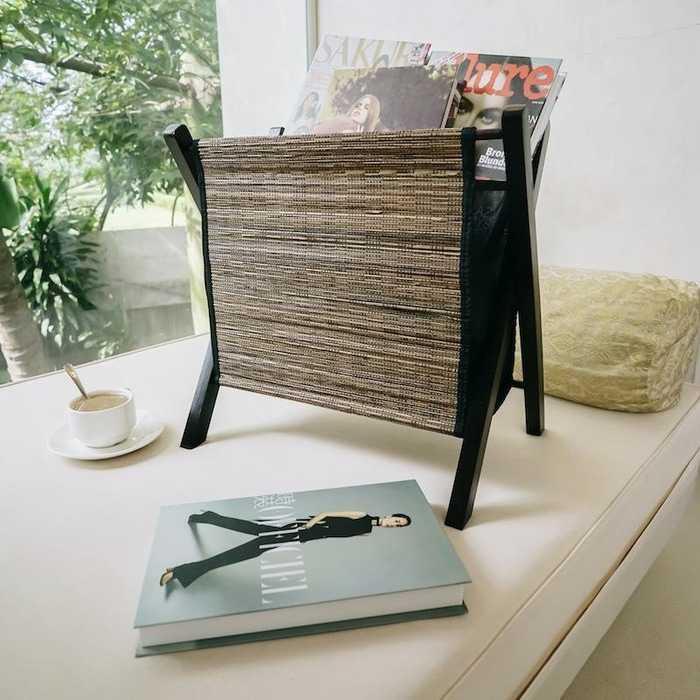 Pelandan | tempat koran majalah buku baju storage lidi kayu dekorasi Murah Cantik dan Elegant
