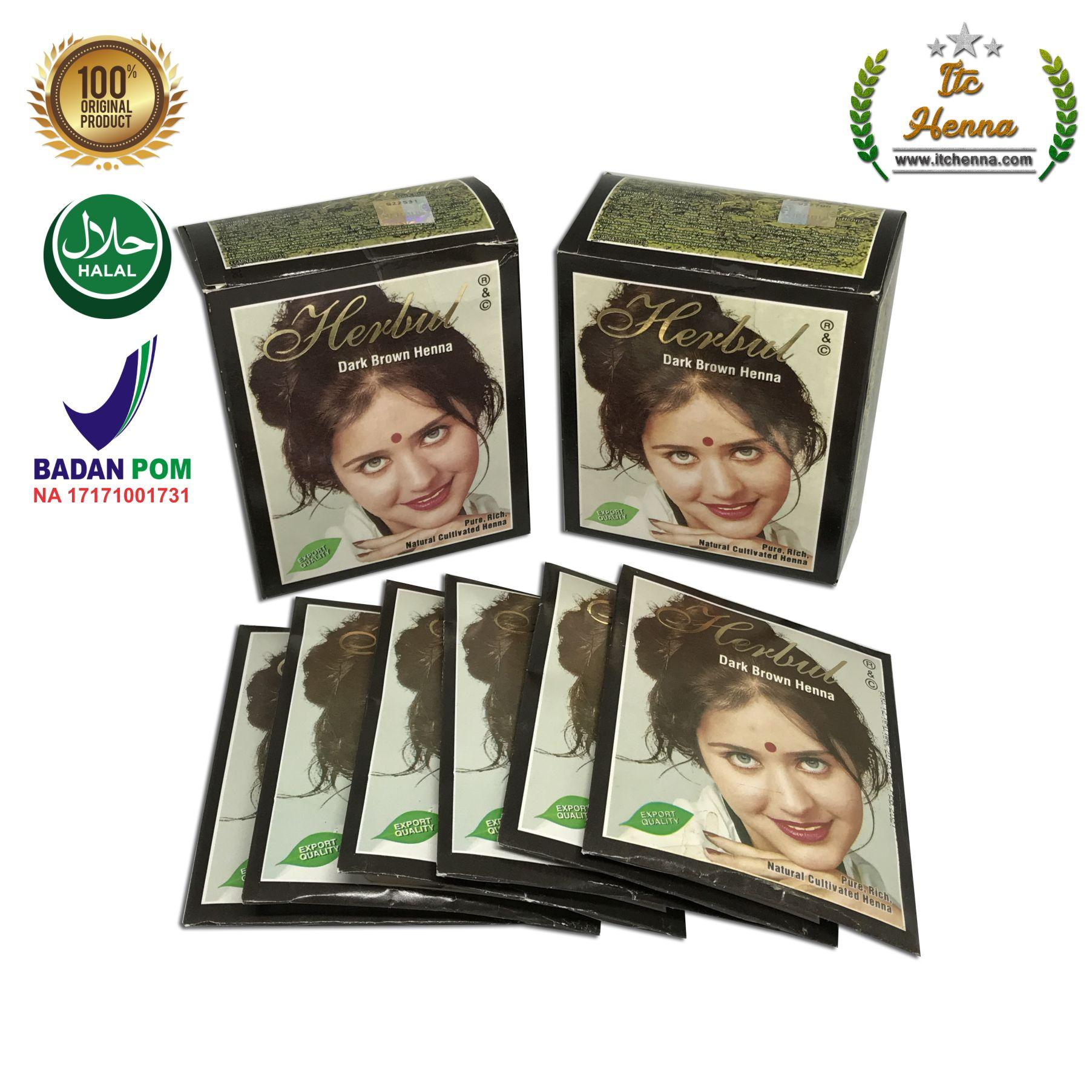 Features Zubedah Henna Pewarna Rambut Herbal Inai Coklat Pack Of 6