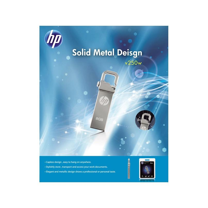 Detail Gambar FlashDisk HP 8GB Stainless v250w free Cable Data 99% Original Terbaru