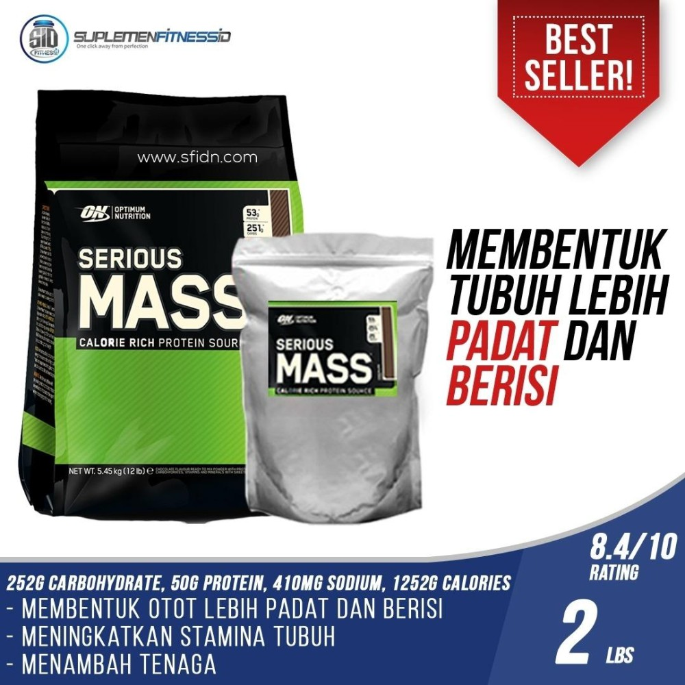 Beli Optimum Nutrition Serious Mass Gainer 2Lb Eceran Optimum Nutrition Online