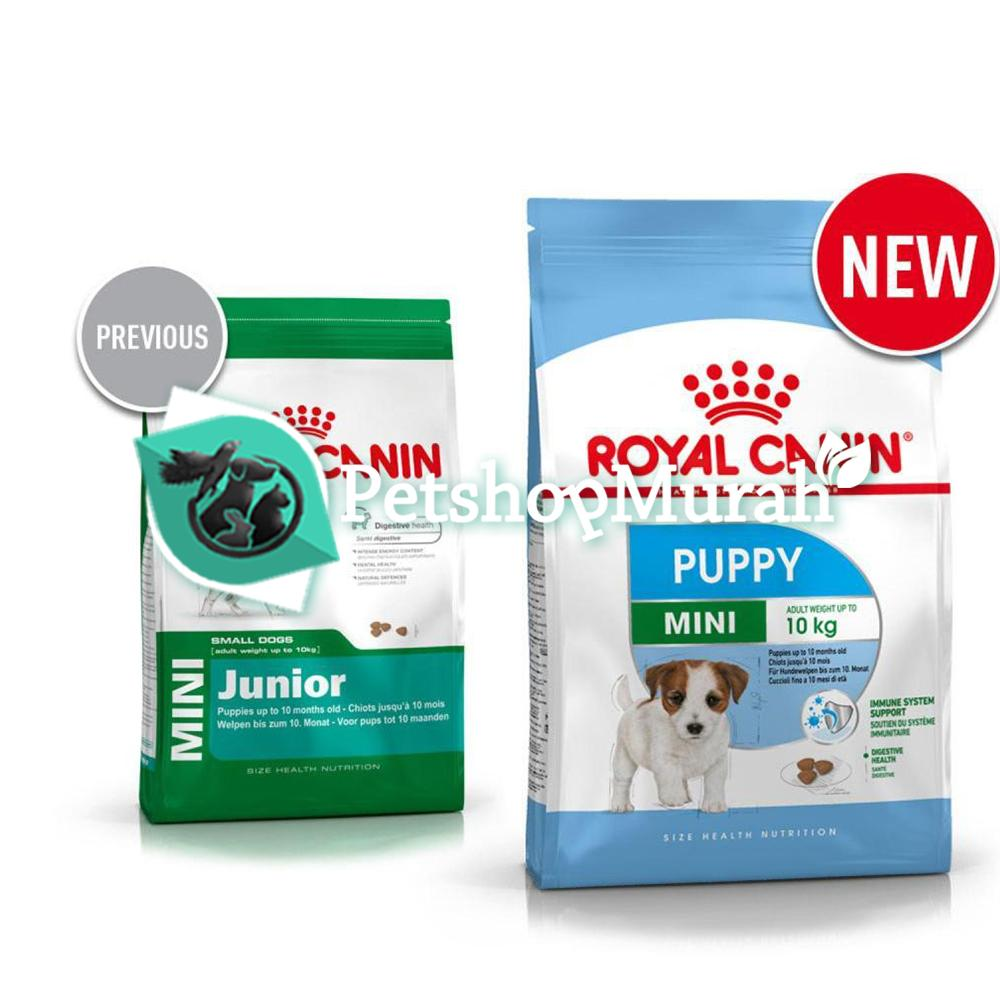 Makanan anjing Royal Canin Mini Puppy 2kg / Mini Junior 2 kg
