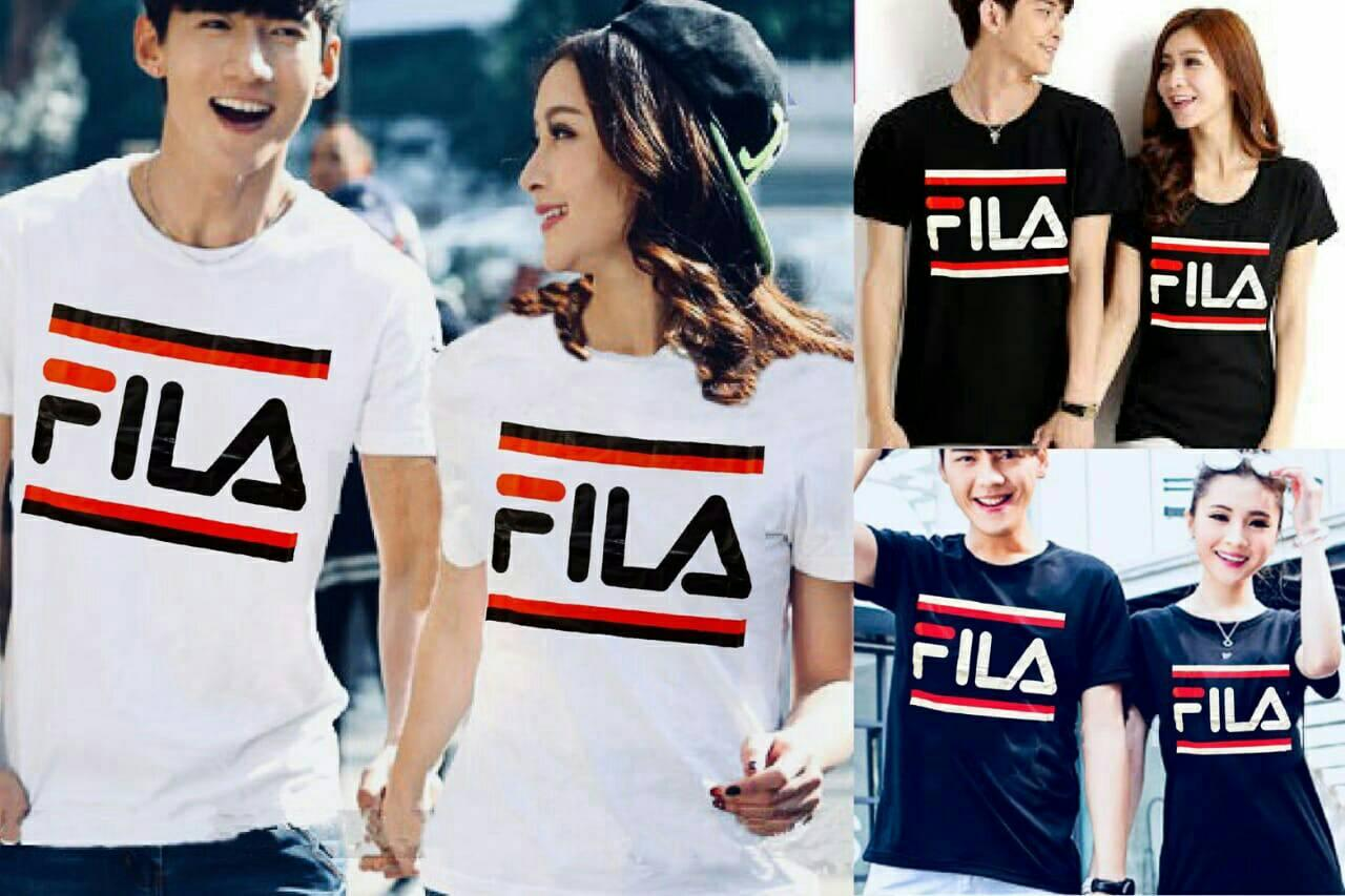 JC - T-SHIRT COUPLE / KAOS PASANGAN NEW VILA I COMBED I JAHITAN RAPI