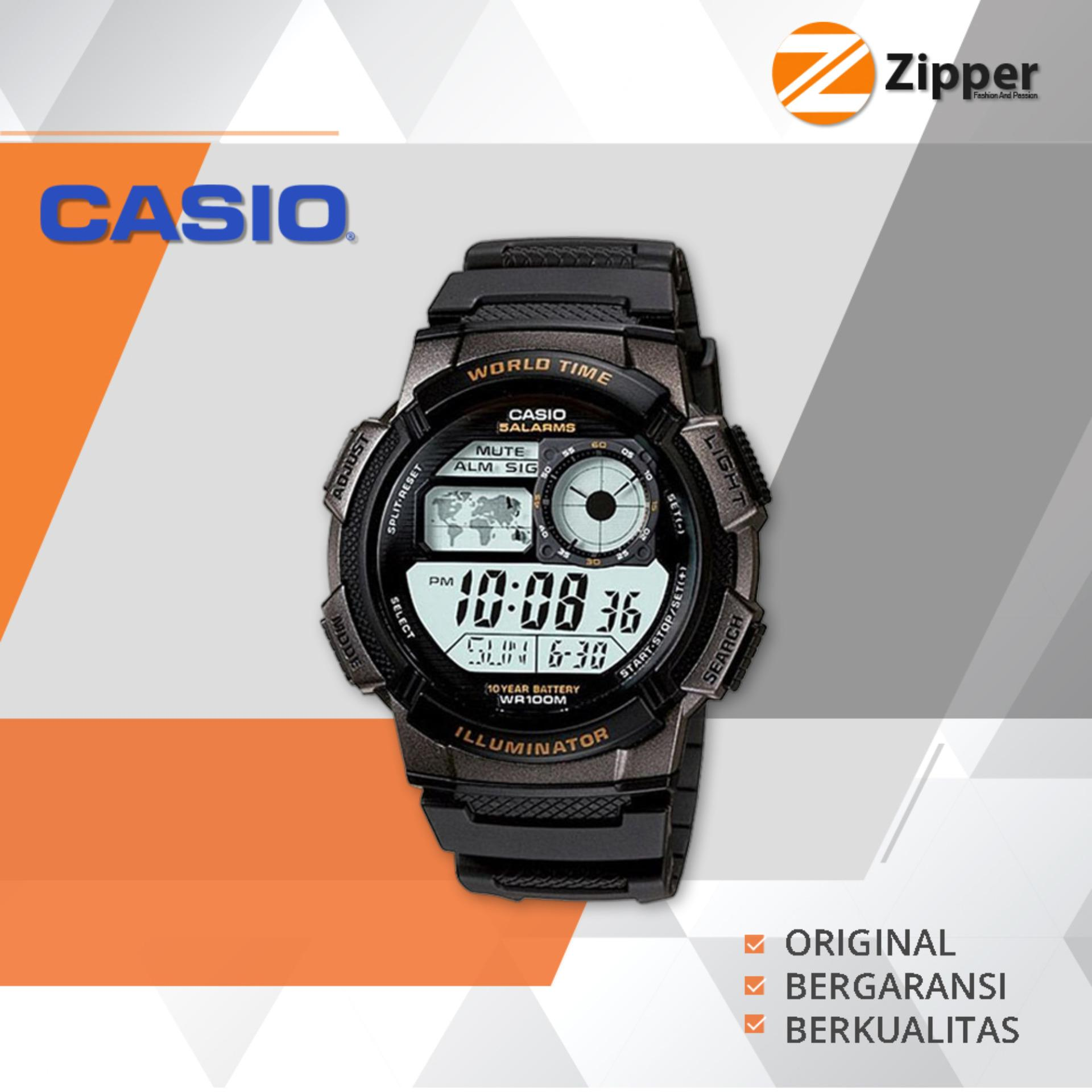 Promo Casio Illuminator Jam Tangan Digital Ae 1000W 1Avdf Youth Series Tali Karet Casio Terbaru