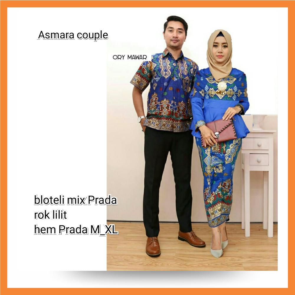 Cek Harga Baru Baju Batik Couple Sarimbit Keluarga Muslim Casual Modern Kemeja Pasangan