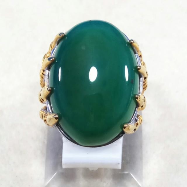 NEW Promo Perhiasan CINCIN BATU AKIK NATURAL GREEN TOPAZ HIJAU TERMURAH Murah