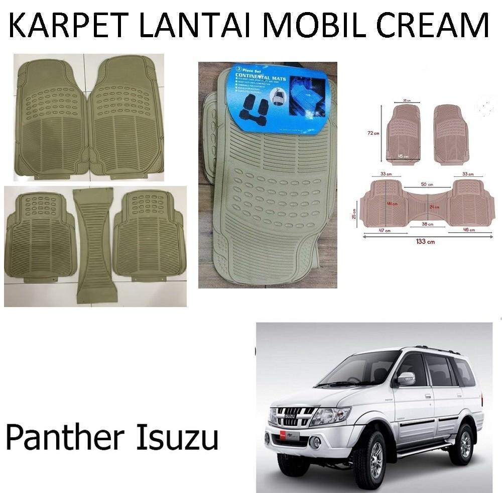 Karpet Mobil Panther / Car Carpet / Floor Mats Universal Warna Cream