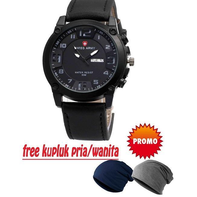 Beli Swiss Army Watches Leather Strap Terbaru Jam Tangan Fashion Pria Original Sa2711 Tanggal Hari Tali Kulit Free Kupluk Unisex Yang Bagus