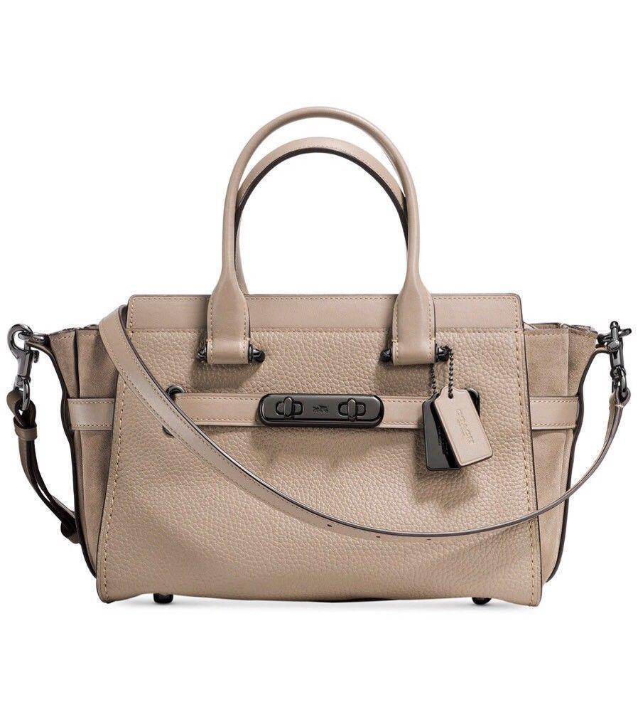 Tas Coach Swagger 27 Stone 12117 Leather Bag Authentic Original Asli USA Store
