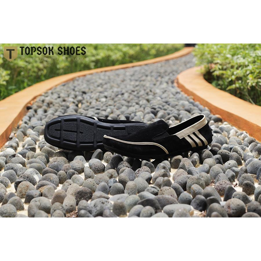 Topsok Shoes Wetluk Hitam Sepatu Slip on Casual Pria Suede - 3