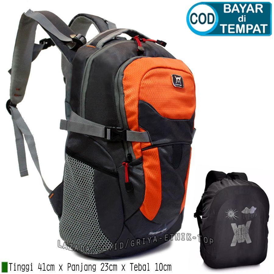 Tas ransel pria distro terbaru Gear Bag Series 04 10 Liter Bonus Rain Cover - Backpack