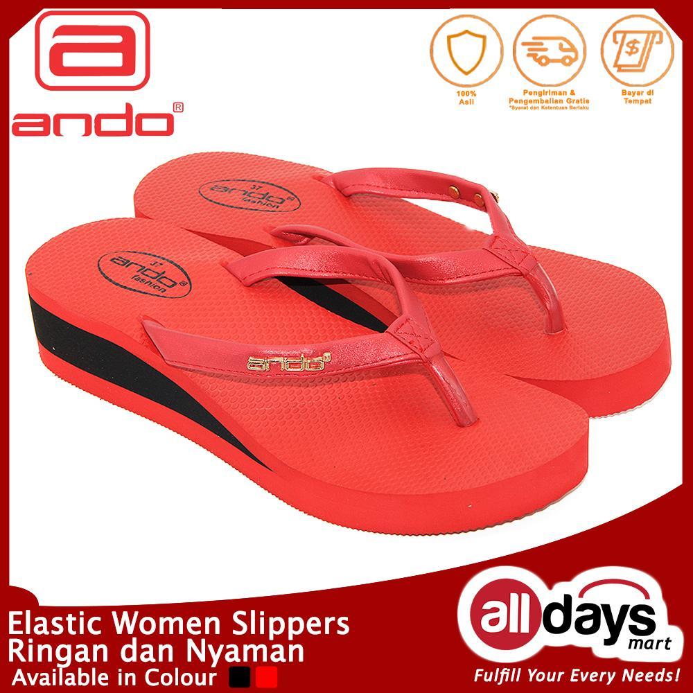 Ando Sandal Jepit Nice Couple Wanita Merah Muda Update Daftar Usupso Womens Letter Slipper Wedges Willona