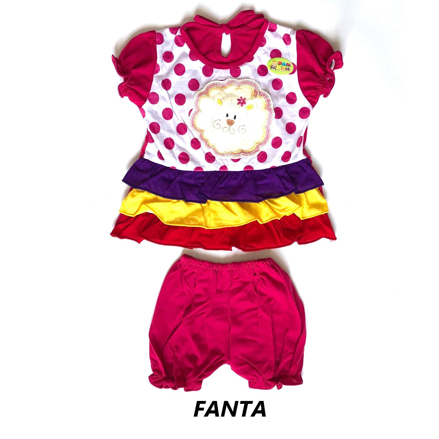 BAYIe - Setelan Baju bayi Perempuan motif SINGA PAN_PAN usia 3-12 bulan / Pakaian