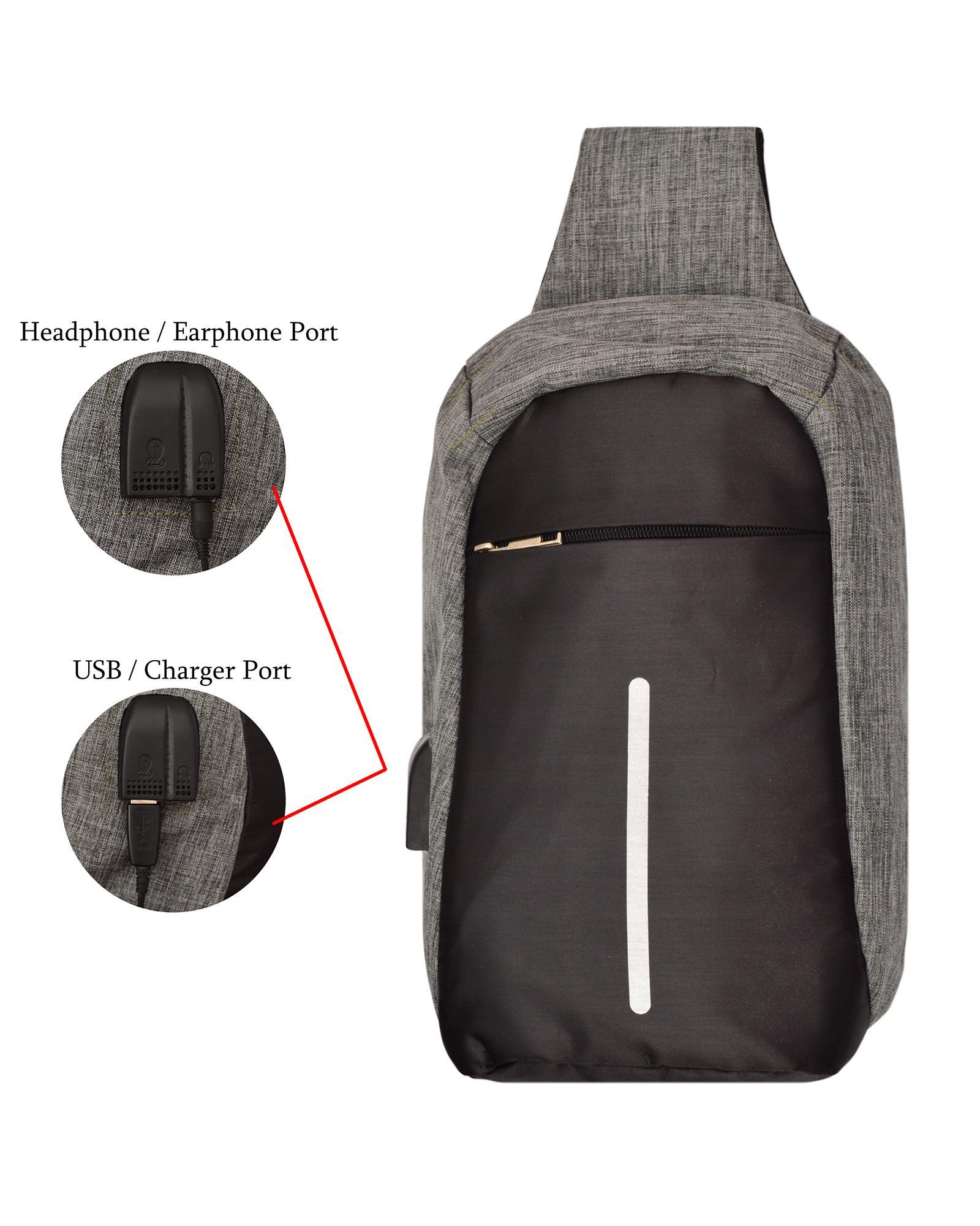 Kelebihan Tas Slempang Crossbody Waistbag Sling Bag Key Anti Theft Travel Waist Maling Detail Gambar Usb Dan Earphone Port Selempang Import Thief Charge Terbaru