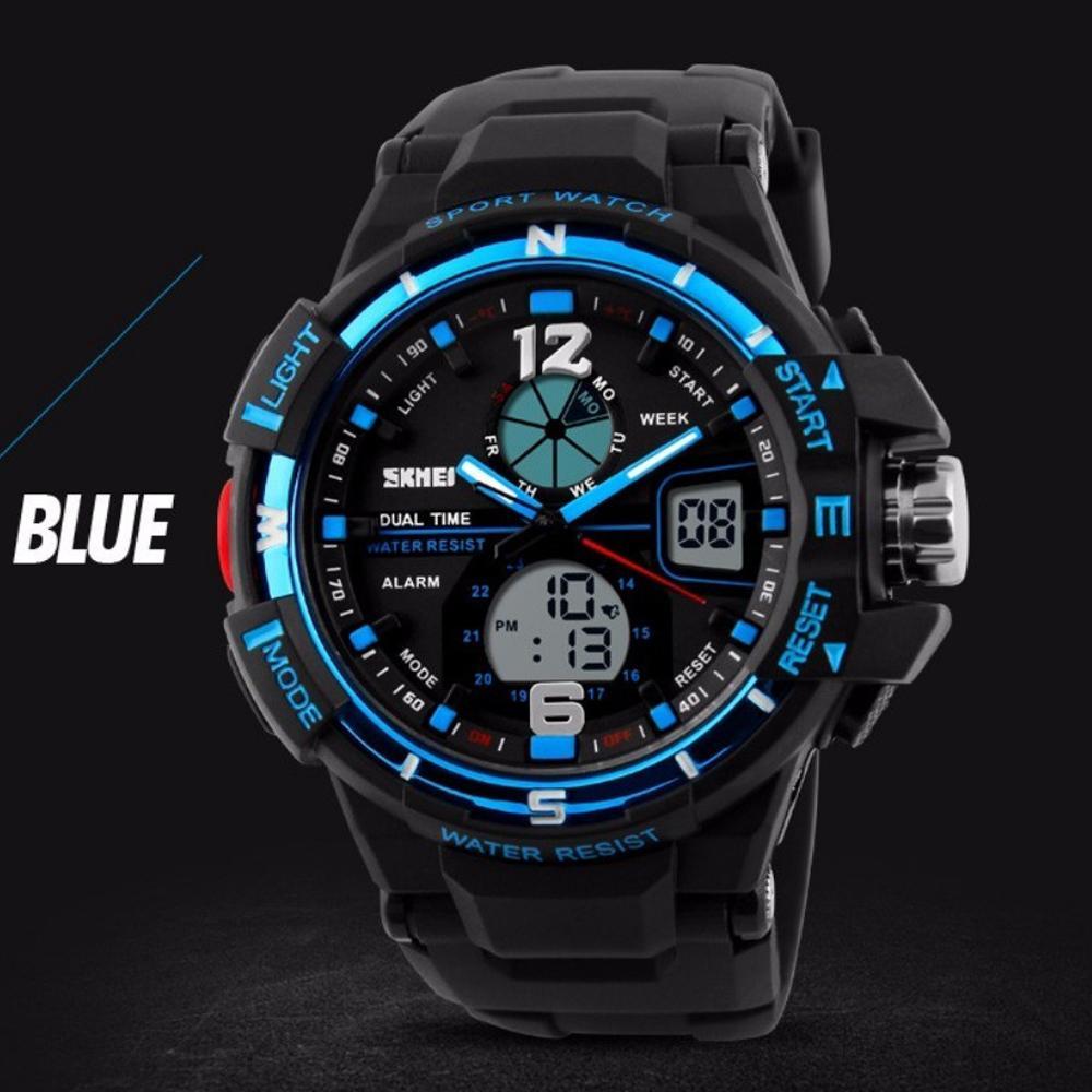 SKMEI AD1148 Jam Tangan Pria Digital Analog Sport Cowok LED Water Resistant  50M . 9c93e12cd0