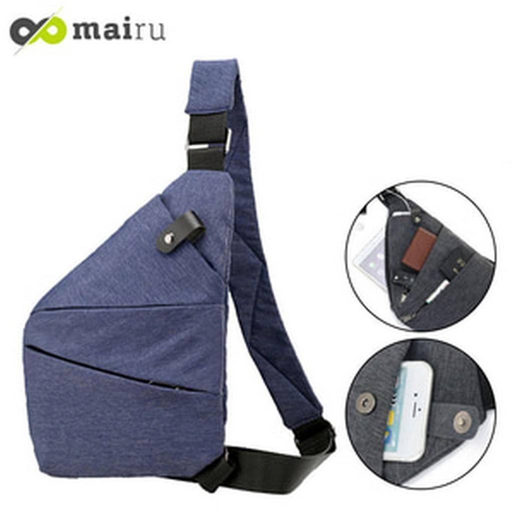 Tas Selempang Anti Theft Crossbody Messenger Sling Bag Anti Air XB2186 PROMO MURAH!!!