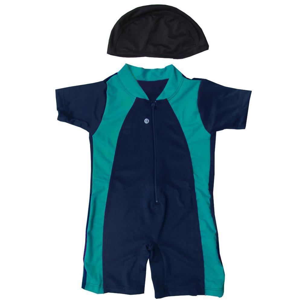 Baju Renang Bayi Unisex dengan Topi