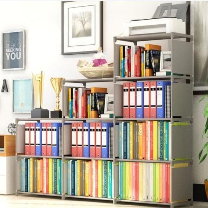RakBukuPortable/ Rak Buku Kayu/Rak buku Dinding / Rak BUKU Serbaguna RAK portable (Mudah dibongkar pasang) TERLARIS