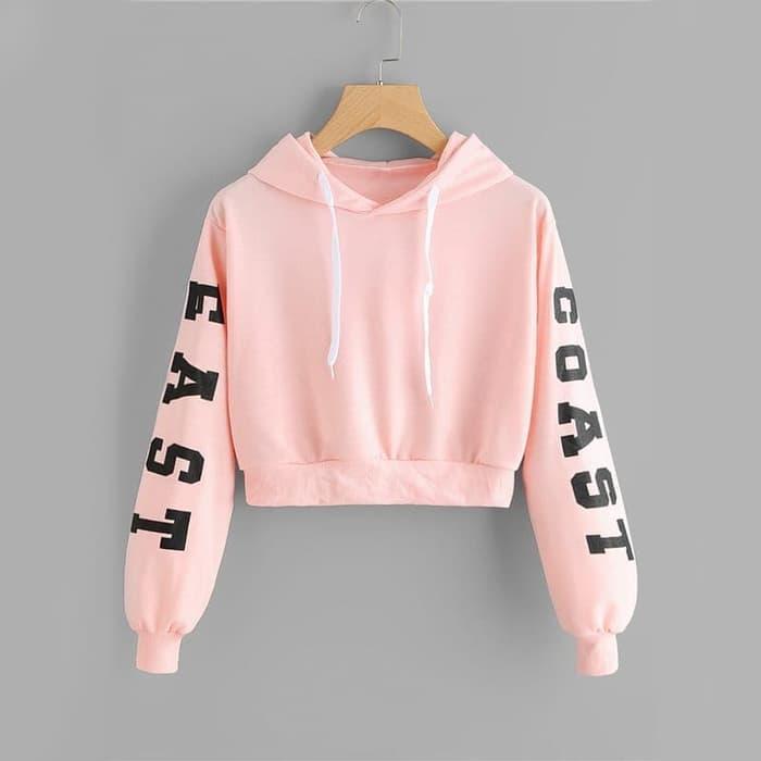 Topsstore Sweater Hoodie Crop Cewe Tali Sweater Alien Long Sleeve ... 41cb08be6c