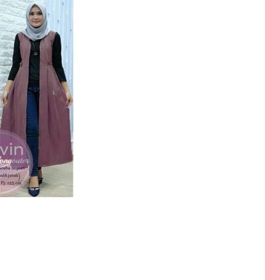 Fitur Vshop91jkt Vania Long Vest Baju Muslim Kardigan Wanita Baju