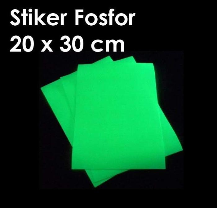 Sticker Fosfor Stiker Luminous Glow In The Dark Gid - ready stock