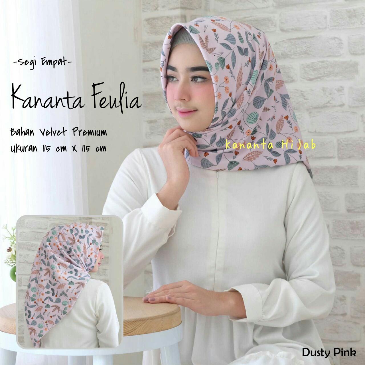 Fitur Hijab Segi Empat Motif Abstrak Bahan Velvet Premium Maxmara Segiempat Kananta Feulia