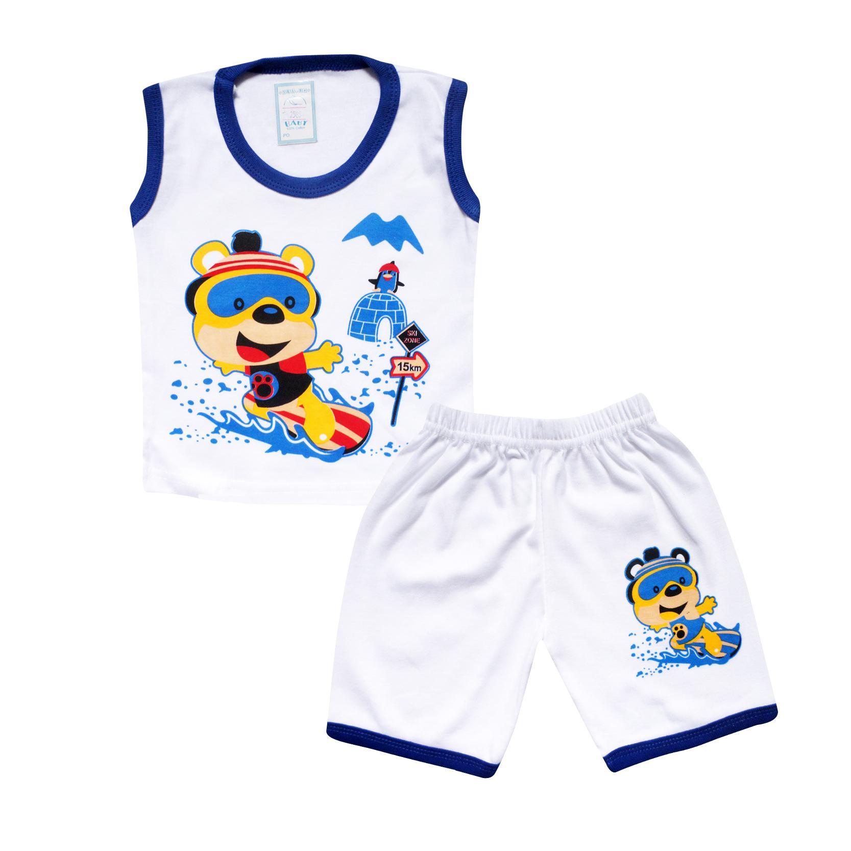 ... Paket Hemat Waka Set Pakaian Baby Putih Setelan Baju Tidur Anak Bayi Laki - Kode B1 ...