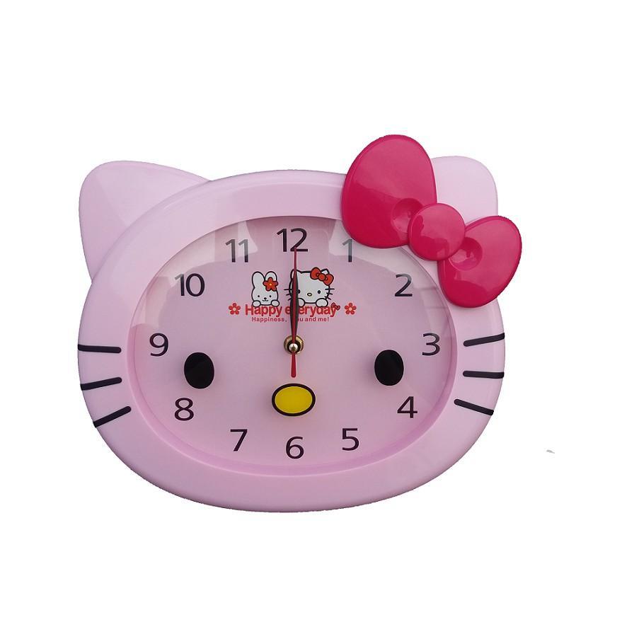 Detail Gambar Jam Dinding Kepala Hello Kitty Variasi Pita Pink Terbaru
