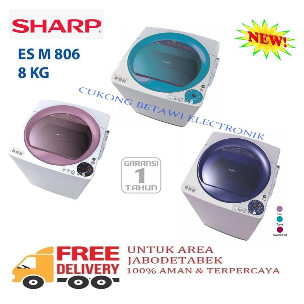 SHARP ESM-806 Mesin Cuci Top Load 8Kg-KHUSUS JABODETABEK