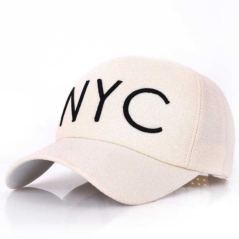 NYC Topi Bisbol Topi Jalan Wanita Musim Panas (Model fashion beige)
