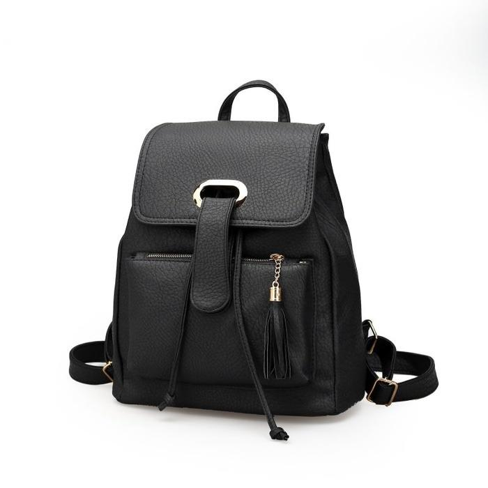 Tas Fashion Wanita Import Ransel Mb1661 Black Original