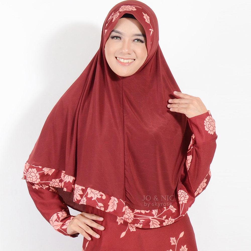 Fitur Jo Nic Setelan Gamis Syari Aisha Allsize Baju Muslim Long Longdress Syana Maroon Dress Maxi